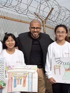 평화를 그리는 작가 '엘시드'와 함께 한 '인성학교 DMZ'