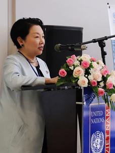 민희경 CJ제일제당 사회공헌추진단장의 모습