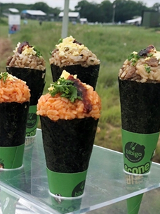 컨세션 부스에 놓인 이색 비빔밥 비비콘