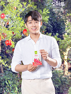 CJ ENM 오쇼핑부문의 식품 PB '오하루 자연가득'의 모델 배우 손호준