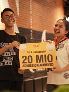 CGV 인도네시아 2천만 관객 돌파 축하 사진